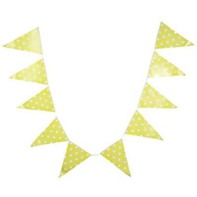 LIGHTWEIGHT PENNANT FLAG COMBO BAR HANGING BANNER FOR PARTY (YELLOW)