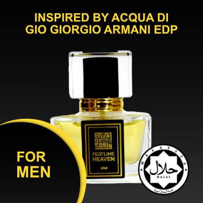 INSPIRED BY ACQUA DI GIO GIORGIO ARMANI 30ML EDP FOR MEN JAKIM CERTIFIED HALAL PERFUME
