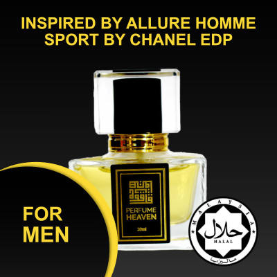 INSPIRED BY ALLURE HOMME SPORT BY CHANEL 30ML EDP FOR MEN JAKIM CERTIFIED HALAL PERFUME