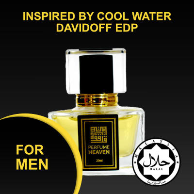 INSPIRED BY COOL WATER DAVIDOFF 30ML EDP FOR MEN JAKIM CERTIFIED HALAL PERFUME