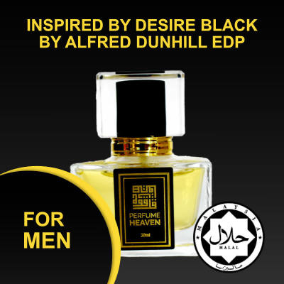 INSPIRED BY DESIRE BLACK BY ALFRED DUNHILL 30ML EDP FOR MEN JAKIM CERTIFIED HALAL PERFUME