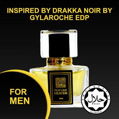 INSPIRED BY DRAKKA NOIR BY GYLAROCHE 30ML EDP FOR MEN JAKIM CERTIFIED HALAL PERFUME