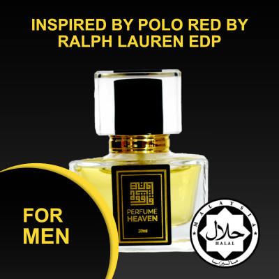 INSPIRED BY POLO RED BY RALPH LAUREN 30ML EDP FOR MEN JAKIM CERTIFIED HALAL PERFUME