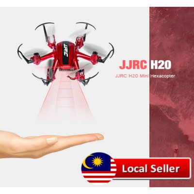 JJRC H20 TINY 2.4G 6 AXIS GYRO 4CH RC HEXACOPTER HEADLESS MODE RTF (RED)
