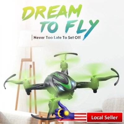JJRC H48 MICRO RC DRONE RTF 6-AXIS GYRO / SCREW FREE STRUCTURE / TWO CHARGING MODES (BLACK AND GREEN)
