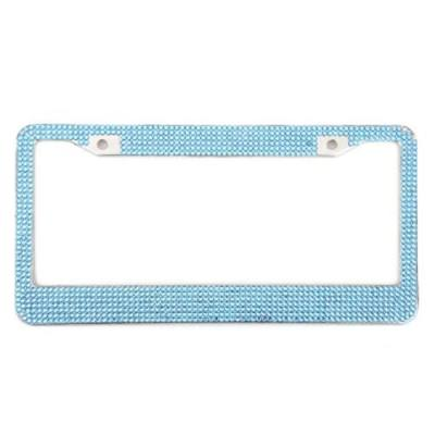 ARTIFICIAL DIAMANTE USA LICENSE PLATE FRAME STAINLESS STEEL COLOFUL RHINESTONE DURABLE RUST PROTECTION