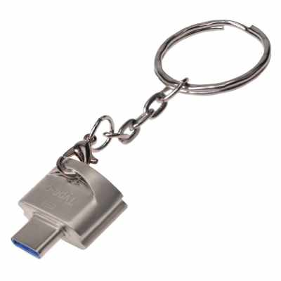 Type-C to USB Adapter Type C OTG Adapter Connector Shining Silver (Silver)