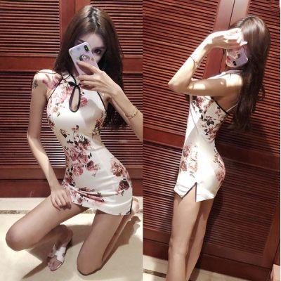 CHINESE NEW YEAR QIPAO SLIM SEXY MIN DRESS CHEONGSAM LESS RETRO