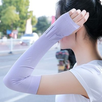 UV Protection Arm Warmer Long Fingerless Long Gloves Sleeves