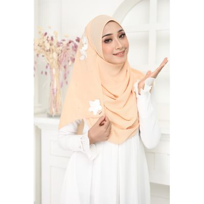 Exclusive tudung muslimah fashion murasaki instant shawl 2loop Beige