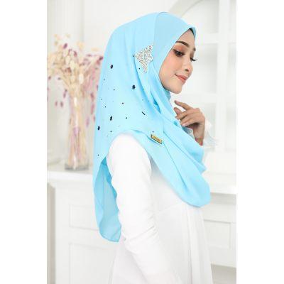 Luxury tudung Jawhara shawl instant Baby Blue