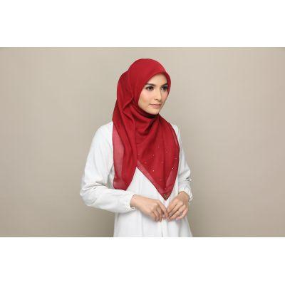 Exclusive hijab tudung bawal midori modern design Burgundy