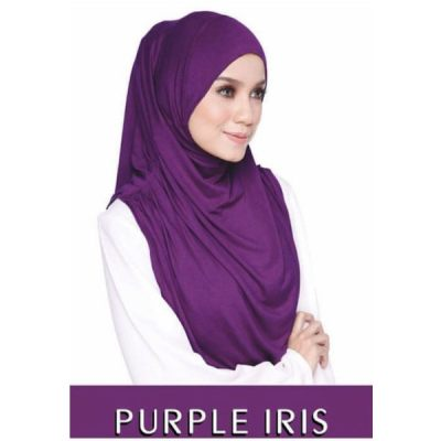 Muslimah Shawl Modern Teratai Exclusive Tudung (Purple)