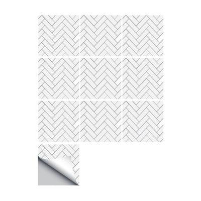 10 Pcs/Set Self Adhesive Tile Stickers (Design 38)
