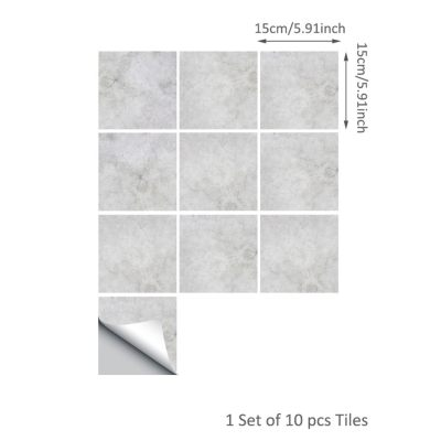 10 Pcs/Set Self Adhesive Tile Stickers (Design 40)