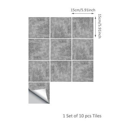 10 Pcs/Set Self Adhesive Tile Stickers (Design 41)