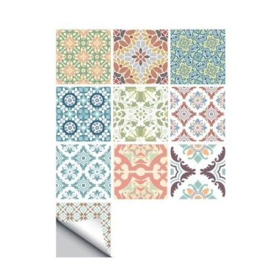 10 Pcs/Set Self Adhesive Tile Stickers (Design 42)