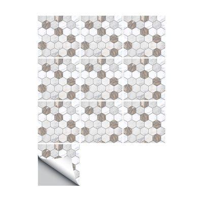 10 Pcs/Set Self Adhesive Tile Stickers (Design 51)