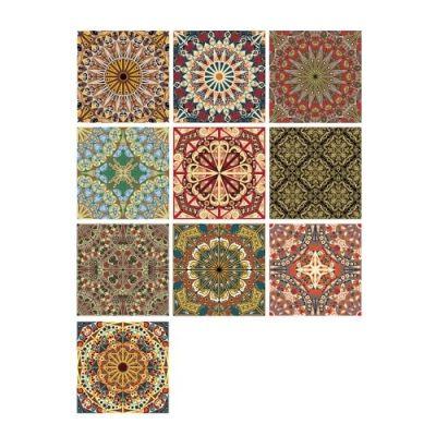 10 Pcs/Set Self Adhesive Tile Stickers (Design 55)