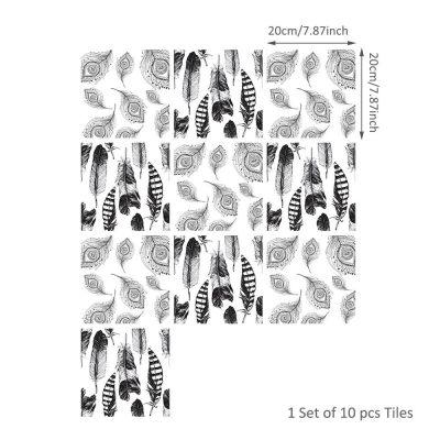 10 Pcs/Set Self Adhesive Tile Stickers (Design 59)