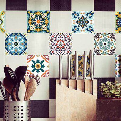 10 Pcs/Set Self Adhesive Tile Stickers (Design 61)