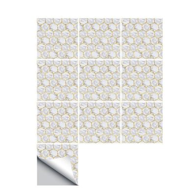 10 Pcs/Set Self Adhesive Tile Stickers (Design 62)