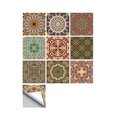 10 Pcs/Set Self Adhesive Tile Stickers (Design 67)