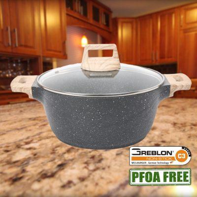 Non Stick PFOA Free Granite Casserole (24cm)