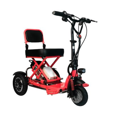 3 Wheeled Electric Motorised Wheelchair Scooter for Elderly, OKU or Disable Person, Stroke, Diabetes, Heart, Asthma Patients, etc. Rechargeable Lithium Battery. No Petrol Required.