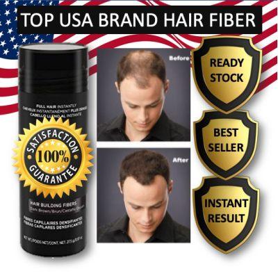 PROMO Black Instant Hair Fiber 27.9g Instant Hair Loss Concealer Serat Rambut Keratin Hair Building Fibers Cover Hair Loss and Thinning Solution