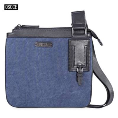 OSOCE STYLISH MEN LIGHT HANDBAG BRIEFCASE FOR BUSINESS USING (BLUE)