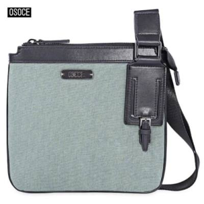 OSOCE STYLISH MEN LIGHT HANDBAG BRIEFCASE FOR BUSINESS USING (GREEN)