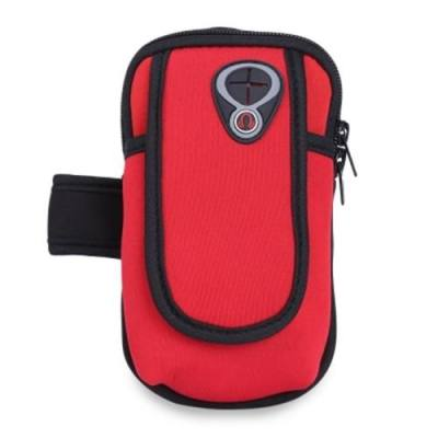 UNIVERSAL STYLISH ARM WRIST BAG POUCH CASE FOR OUTDOOR RUNNING SPORT FITNESS (RED)