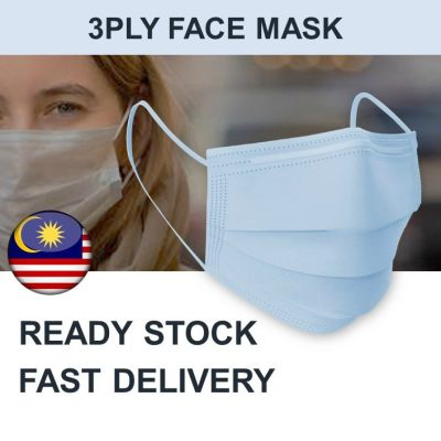 READY STOCK 25pcs 3ply Face Mask 3 Layer Facemask disposable blue anti dust anti germ trusted seller fast delivery malaysia