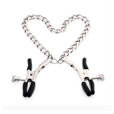 Stainless Steel Labia Clamps Metal Nipple Clamp Clip With Chain Exotic Seks Accessories