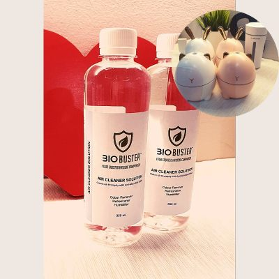 Ready Stock Biobuster Air Cleaner Solutions Multipurpose Anti Microbial (starter pack 2x350ml solutions with humidifier)
