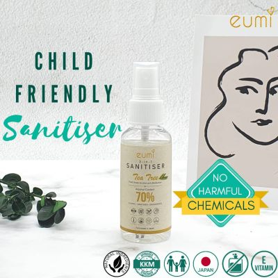 [Child Friendly] Eumi 3-in-1 Sanitiser 50ml - KKM Approved | Food Grade Alcohol | Natural Ingredients |