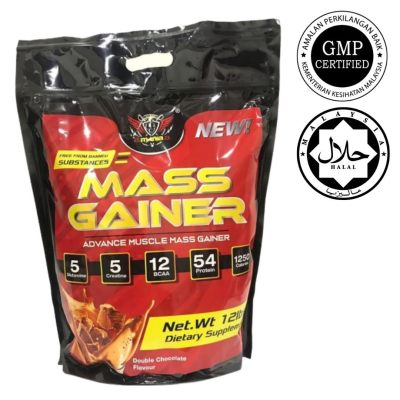 Ready Stock Power Mania Nutrition 5KG Muscle Mass Gainer Bulking Weight Gain Halal Certified KKM Approved 22 Servings (Double Chocolate)