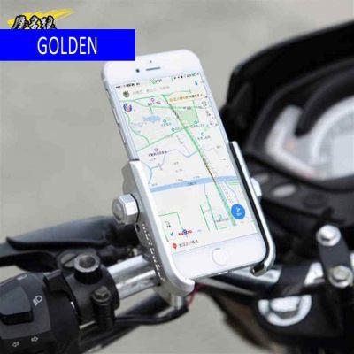 MOTOWOLF motorcycle mobile phone holder general bicycle electric vehicle navigation aluminum mobile phone holder handlebars - gold (Golden)
