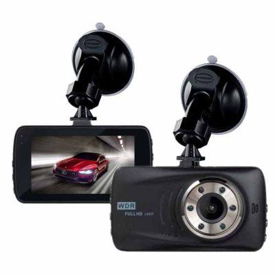 Car data recorder hd night vision hidden 24 hours parking monitoring 1080P car data recorder black (Black)