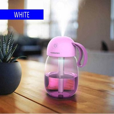 Water cup 3 in 1 mini USB humidifier desktop air multifunctional car humidifier white (White)