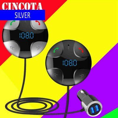BC29B new car MP3 bluetooth player dual USB car bluetooth hands-free FM transmitter silver + black [iron gray] (Silver)