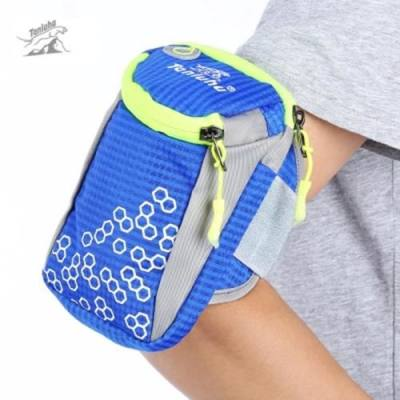 TANLUHU OUTDOOR ARM BAG POUCH CASE FOR PHONE KEY (BLUE)