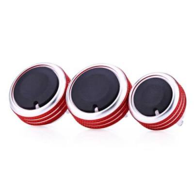 3PCS AUTOMOBILE CONDITIONING KNOB HEAT CONTROL SWITCH BUTTON FOR VOLKSWAGEN 2013 - 2015
