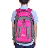 CAMEL MOUNTAIN CM661 - 1 35L WATER RESISTANT BACKPACK PORTABLE OUTDOOR  CLIMBING CYCLING CAMPING BAG (PEACH RED) - 46de8b428a