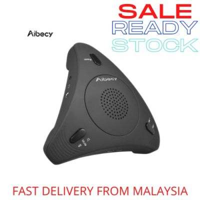 [ Local Ready Stock ] Aibecy 360° USB Desktop Computer Laptop Conference Meeting Office School With Microphone Speaker