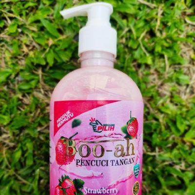 [ Local Ready Stocks ] Boo-Ah Anti Bacteria Strawberry Hand Wash Pencuci Tangan Buih Wangi Pembasmi Kuman ( 500ML )
