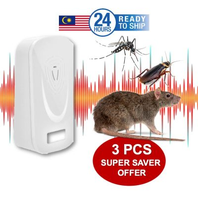 [ 3 in 1 PROMO READY STOCK ] Multi Wave Pest Mouse Cockroach Pest Repeller Device Mesin Halau Tikus Lipas Nyamuk Serangga Insect Rats Spiders Anti Pest Mosquito Pest Reject Control House Home Office Child Safe - Copy