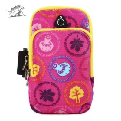 TANLUHU 361 UNISEX WATER RESISTANT RUNNING CYCLING MOBILE PHONE POUCH ARM BAG (PINK)