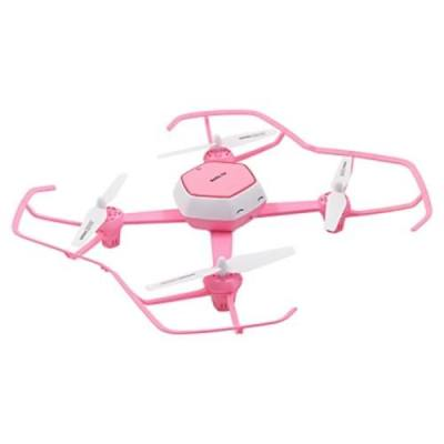 HJ TOYS QQ - FLY W606 - 6 RC DRONE WIFI FPV 480P CAMERA 2.4GHZ 6-AXIS GYRO HEADLESS MODE AIR PRESS ALTITUDE HOLD (PINK)